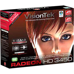 VisionTek 900302 Radeon 3450 Graphic Card - 512 MB DDR2 SDRAM - PCI