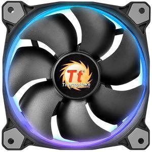 Thermaltake CL-F043-PL14SW-B Riing Cooling14 RGB LED 140MM Adjustuable Color Case Fan