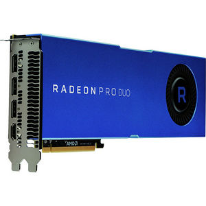 AMD 100-506048 Radeon Pro Duo Graphic Card - 2 GPUs - 1.24 GHz Core - 32 GB GDDR5 - Dual Slot