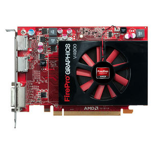 AMD 100-505649 FirePro V4900 Graphic Card - 1 GB GDDR5 - PCI-E 2.1 x16 - Half-length - Single Slot