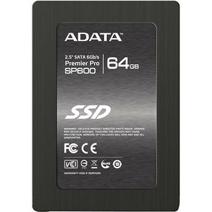 "ADATA ASP600S3-64GM-C Premier Pro SP600S3 64 GB 2.5"" Internal Solid State Drive - SAS"