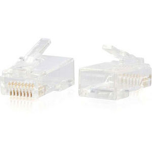 C2G 00889 RJ45 Cat6 Modular Plug for Round Solid/Stranded Cable - 50pk