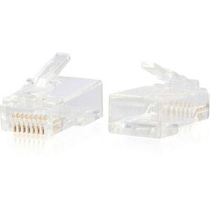 C2G 00890 RJ45 Cat6 Modular Plug for Round Solid/Stranded Cable - 100pk