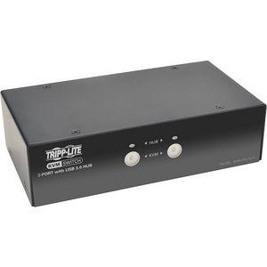 Tripp Lite B004-DPUA2-K 2-Port DisplayPort KVM Switch w/Audio, Cables and USB 3.0 SuperSpeed Hub