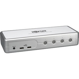 Tripp Lite B004-DUA4-K-R 4-Port Desktop Compact DVI/USB KVM Switch w/ Audio & Cables