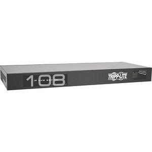 Tripp Lite B072-008-1-IP 8-Port IP Cat5 KVM Switch Compact 1+1 User Rackmount
