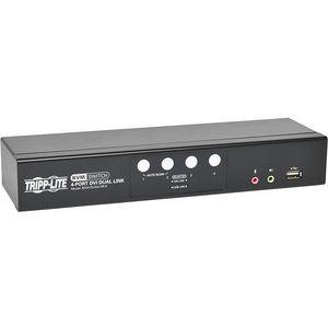 Tripp Lite B004-DUA4-HR-K 4-Port DVI/USB KVM Switch Dual Link w/ Audio & Cables