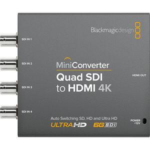 Blackmagic Design CONVMBSQUH4K2 Mini Converter Quad SDI to HDMI 4K