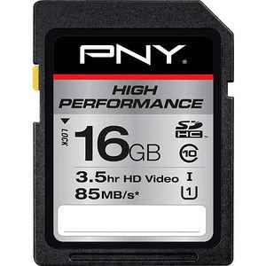 PNY P-SDHC16GU185-GE High Performance 16 GB SDHC