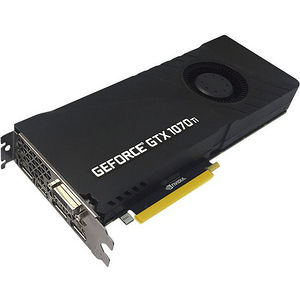 PNY VCGGTX1070T8PB-CG GeForce GTX 1070 Ti Graphic Card - 1.61 GHz Core - 8 GB GDDR5 - Dual Slot