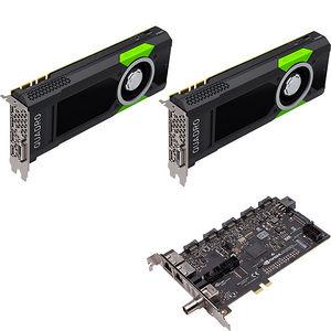 PNY VCQP5000SYNC-2P5KIT Dual Quadro P5000 Graphic Card - 16 GB GDDR5 + Quadro Sync II (Turnkey Kit)