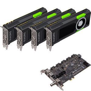 PNY VCQP5000SYNC-4P5KIT Quad Quadro P5000 Graphic Card - 16 GB GDDR5 + Quadro Sync II (Turnkey Kit)