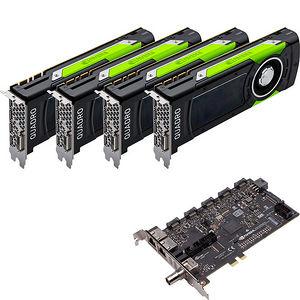 PNY VCQP6000SYNC-4P6KIT Quad Quadro P6000 Graphic Card - 24 GB GDDR5X + Quadro Sync II Turnkey Kit