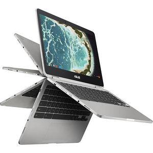 "ASUS C302CA-DH75-G Chromebook Flip 12.5"" Touchscreen LCD - Intel Core M m7-6Y75 2 Core 1.20 GHz"