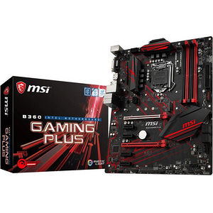 MSI B360GPLUS B360 GAMING PLUS Desktop Motherboard - Intel Chipset - Socket H4 LGA-1151