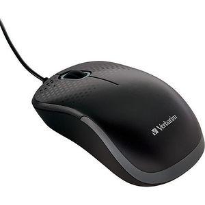 Verbatim 99790 Silent Corded Optical Mouse - Black