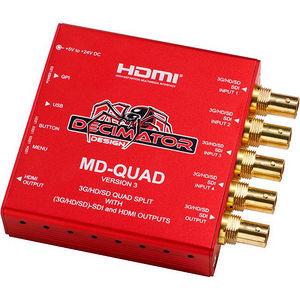 Decimator Design DD-MD-QUAD MD-QUAD V3 Quad Split Multi-Viewer 3G/HD/SD-SDI + HDMI Outputs