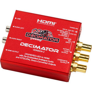 Decimator Design DD-DEC-2 Decimator 2 3G/HD/SD-SDI to HDMI and NTSC/PAL