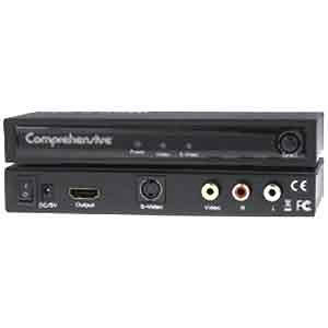 Comprehensive CCN-CSH101 Composite, S-Video and Audio to HDMI Converter