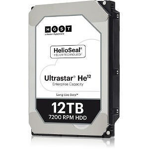 "HGST 0F29532 Ultrastar He12 512E SE HUH721212AL5204 12 TB 3.5"" SAS 7200 RPM 256 MB Cache Hard Drive"