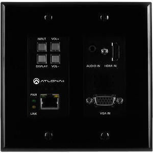 Atlona AT-HDVS-200-TX-WP-BLK Two-Input Wall Plate Switcher for HDMI and VGA Sources (Black)