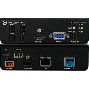 Atlona AT-HDVS-200-TX Three-Input Switcher for HDMI and VGA w/ Ethernet-Enabled HDBaseT Output