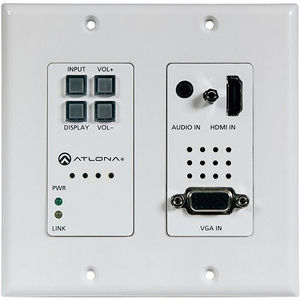 Atlona AT-HDVS-200-TX-WP 2-Input Wallplate Switcher for HDMI & VGA w/ Ethernet-Enabled HDBaseT
