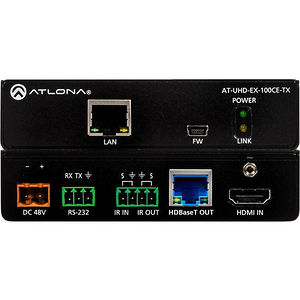 Atlona AT-UHD-EX-100CE-TX 4K/UHD 100M HDBaseT Transmitter with Ethernet and Control