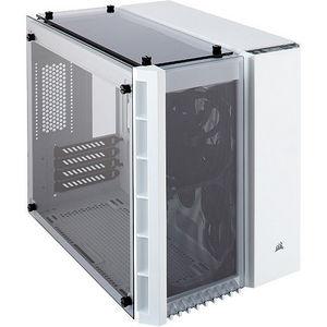 Corsair CC-9011136-WW Crystal 280X Micro ATX Computer Case - White