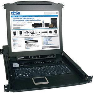 "Tripp Lite B020-008-17 8-Port Rack Console KVM Switch w/ 17"" LCD PS/2 1U"