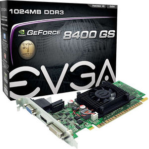 EVGA 01G-P3-1302-LR GeForce 8400 GS Graphic Card - 520 MHz Core - 1 GB DDR3 SDRAM - PCI-E 2.0 x16