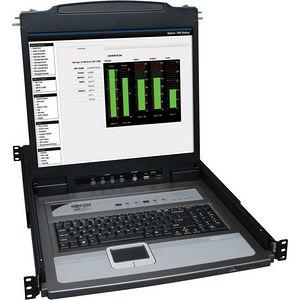 """Tripp Lite B020-U08-19-K 8-Port Rack Console KVM Switch w/19"""" LCD & 8 PS2/USB Cables 1U"""