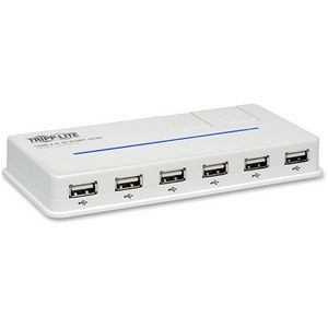 Tripp Lite U222-010-R 10-Port USB 2.0 Hi-Speed Hub Compact Desktop Mobile Tower