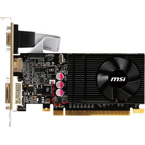 MSI N610GT-MD1GD3/LP GeForce GT 610 Graphic Card - 810 MHz Core - 1 GB DDR3 SDRAM - PCI-E 2.0 x16