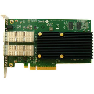 Chelsio T580-CR 2-Port 10/40GbE Half Size Uwire, Enhanced TOE & iSCSI, PCI-E x8 Gen 3, 32K conn.