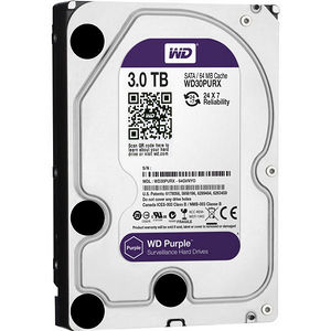 """WD WD30PURX Purple 3TB Surveillance 3.5"""" Internal Hard Drive"""