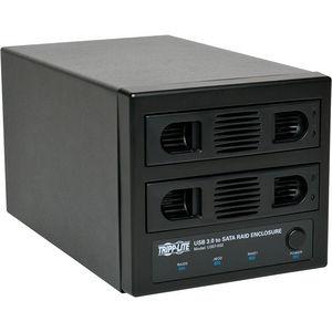 Tripp Lite U357-002 USB 3.0 SuperSpeed 2 Bay SATA Hard Drive RAID Enclosure w Fan