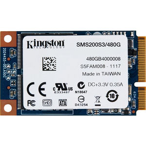 Kingston SMS200S3/480G SSDNow mS200 480 GB Internal Solid State Drive - mini-SATA - Plug-in Module