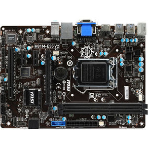 MSI H81M-E35 V2 Desktop Motherboard - Intel Chipset - Socket H3 LGA-1150