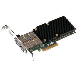 Chelsio T580-LP-CR 2-Port 10/40GbE Low Pro UWire Adapter W/ PCI-E x8 Gen 3, 32K conn. QSFP Conn.