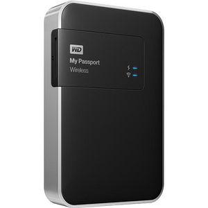 WD WDBK8Z0010BBK-NESN My Passport Wireless 1TB Mobile Storage Portable Hard Drive USB 3.0 - Black