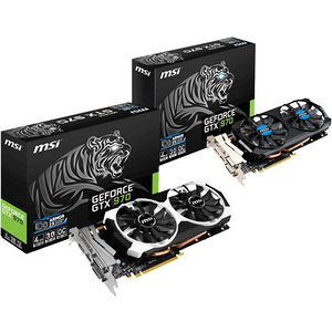 MSI GTX 970 4GD5T/OC GeForce GTX 970 Graphic Card - 1.10 GHz Core - 4 GB GDDR5 - PCI-E 3.0 x16
