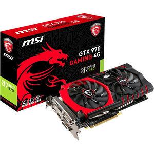 MSI GTX 970 GAMING 4G GeForce GTX 970 Graphic Card - 1.14 GHz Core - 4 GB GDDR5 - PCI-E 3.0 x16