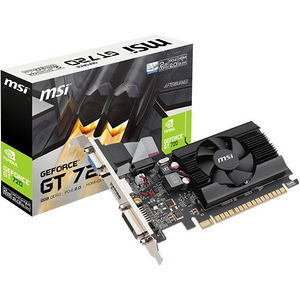 MSI N720-2GD3LP GeForce GT 720 Graphic Card - 797 MHz Core - 2 GB DDR3 SDRAM - PCI-E 2.0 x16 - LP