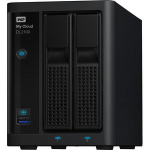 WD WDBBAZ0000NBK-NESN My Cloud Business Series DL2100, 0TB, 2-Bay Diskless NAS with Intel processor