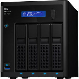 WD WDBWZE0160KBK-NESN My Cloud Business Series EX4100, 16TB, 4-Bay Pre-configured NAS w/ Red Drives