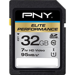PNY P-SDH32U195-GE Elite Performance 32 GB SDHC