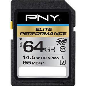 PNY P-SDX64U395-GE Elite Performance 64 GB SDXC