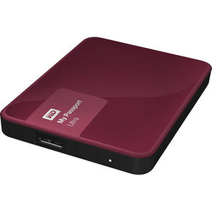 WD WDBWWM5000ABY-NESN My Passport Ultra 500GB USB 3.0 Secure portable drive - Wild Berry