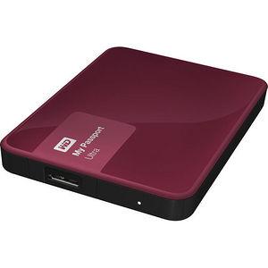 WD WDBGPU0010BBY-NESN My Passport Ultra 1TB USB 3.0 Secure portable drive w/ auto backup Wild Berry